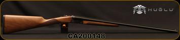 "Huglu - 28Ga/2.75""/26"" - Model 200A Mini - SxS Single Trigger - Grade I Turkish Walnut English Grip Stock/Case Hardened Receiver/Blued, SKU# 8681715398136, S/N CA200148"