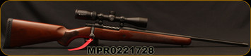 "Mossberg - 6.5Creedmoor - Patriot Walnut - Vortex Scoped Combo - Walnut Stock/Matte Blued, 22""Fluted Barrel, 1:8""Twist, 5rd Detachable Magazine, Vortex Crossfire II - 3-9x40mm, Dead-Hold BDC (MOA) Reticle, Mfg# 28028, S/N MPR0221728"