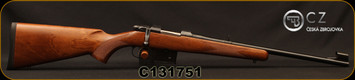 "CZ - 7.62x39 - 527 Carbine - Bolt Action Rifle - Turkish Walnut Stock/Blued Finish, 18.5"" Barrel, 5 Round Detachable Box Magazine, Fixed Sights, Mfg# 5274-7304-BABKAB5, S/N C131751"