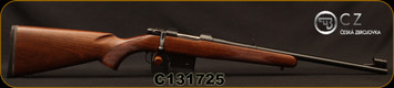 "CZ - 7.62x39 - 527 Carbine - Bolt Action Rifle - Turkish Walnut Stock/Blued Finish, 18.5"" Barrel, 5 Round Detachable Box Magazine, Fixed Sights, Mfg# 5274-7304-BABKAB5, S/N C131725"
