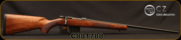 "CZ - 6.5Grendel - Model 527 American - Bolt Action Rifle - American Style Turkish Walnut Stock/Blued, 24"" Barrel, 5 Round Detachable Magazine, No Sights Integrated 16mm Scope Base, Mfg# 5274-0857-MFAKAB5, S/N C881788"