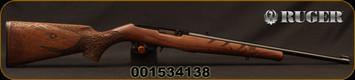 "Ruger - 22LR - 10/22 'Shark' - TALO Exclusive - Semi-Auto - Walnut stock w/Engraved Shark/Satin Black Finish, 18.5""Barrel, 10rd Detachable rotary magazine, Mfg# 31148, S/N 001534138 - Mark on bottom of pistol grip"