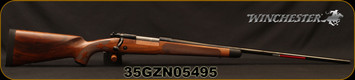 "Winchester - 264WM - Model 70 Super Grade AAA French - Bolt Action Rifle - Grade AAA French Walnut w/Shadowline cheekpiece/Polished Blued Finish, 26"" Barrel, 3 Round Hinged Floorplate, Adjustable Trigger, Mfg# 535239229, S/N 35GZN05495"