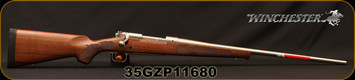 "Winchester - 264WM - Model 70 Featherweight Stainless - Satin finish Grade I walnut stock/Matte Stainless, 24""Barrel, 3round Hinged Floorplate, Mfg# 535234229, S/N 35GZP11680"