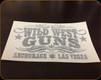 """Wild West Guns - 5"""" Decal - Black"""