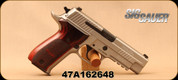 "Consign - Sig Sauer - 9mm - P226 Elite - Wood Grips/Stainless, 4.4""Barrel, c/w 2 magazines, new holster"