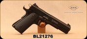 "Consign - GSG - 22LR - Model 1911 - Semi-Auto - Black Grips/Blued, 5""Barrel, 2 magazines - Only 50 rounds fired - in original case w/all papers"