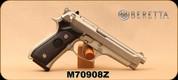 "Consign - Beretta - 9mm - Model 92FS - Black Grisp/Stainless, 4.8""Barrel, 2 magazines - In original case"