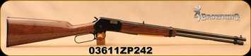 "Consign - Browning -  22S/L/LR - BL-22 Grade I - Lever Action Rimfire Rifle - Gloss Finish Walnut Stock/Blued Finish, 20"" Barrel, 15 Round Capacity, Mfg# 024100103 - Only 200 rounds fired - In original box"