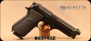 "Used - Beretta - 9mm - Model 925 Signature Model - Black Rubber Grips/Blued, 4.8""Barrel, (2) magazines - In original case"