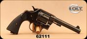 """Consign - Colt - 455Eley - New Service - Black Grips/Blued, 5.5""""Barrel, Royal Northwest Mounted Police stamp on Backstrap"""