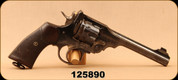 "Consign - Wilkinson-Webley - 450/455 - Mk V - Revolver - Brown Grips/Blued, 5.98""Barrel, Initials in Backstrap (likely commercial purchase for officers)"