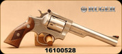 "Consign - Ruger - 357Mag - Security Six - Walnut Grips/Stainless Finish, 6""barrel, c/w (2) speedloaders - in balck plastic case"