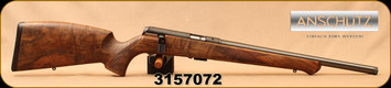 "Used - Anschutz - 22LR - Model 1727F - Walnut German-style stock w/Schnabel Forend/Blued, Heavy Tapered 18""Threaded(1/2-28UNEF)Barrel, target two-stage trigger - New, unfired in box"
