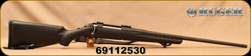 "Used - Ruger - 30-06Sprg - American Standard Rifle - Black Synthetic/Matte Black Finish, 22""Barrel, Ruger Marksman Adjustable trigger, c/w 'Bone Collector' Synthetic Sling"