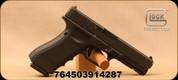 "Glock - 9mm - G17 Gen4MOS - Semi Auto Pistol - Black Polymer w/Interchangeable Backstrap/Matte Finish, 4.48""Barrel, (3)10 Round Magazines, Fixed Sights, Mfg# UG1750201MOS"