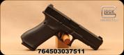 "Glock - 9mm - G17 Gen5 - Semi Auto Pistol - Black Polymer w/Interchangeable Backstrap & Front Serrations/Black nDLC Finish, 4.48""Barrel, (3)10 Round Magazines, Glock Night Sights, Mfg# UA175S701"