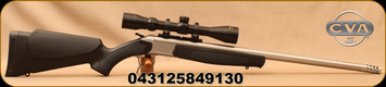 """CVA - 444Marlin - Scout V2 Combo Rifle - Black Synthetic Stock/Stainless Steel, 25""""Standard Fluted, Threaded Barrel, CrushZone Recoil Pad, c/w Konus 3-9x40mm Scope, Duplex Reticle, soft rifle case"""