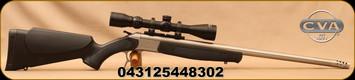 "CVA - 450BM - Scout V2 Combo Rifle - Black Synthetic Stock/Stainless Steel, 25""Standard Fluted, Threaded Barrel, CrushZone Recoil Pad, c/w Konus 3-9x40mm Scope, Duplex Reticle, Soft case"