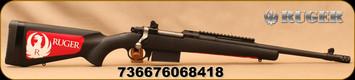 "Ruger - 350Legend - Gunsite Scout Rifle - Bolt Action - Black Synthetic/Matte Black Finish, 16.5""Barrel, Muzzle Brake, Forward-mounted Picatinny rail, Mfg# 06841"