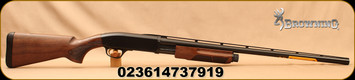 "Browning - 12Ga/3""/28"" - BPS Field - Pump Action Shotgun - Satin Walnut Stock/Matte Blued Finish, 4 Round Capacity (2 3/4""), Bottom Ejection, Mfg# 0122863"