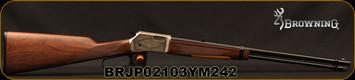 "Browning - 22S/L/LR - BL-22 FLD Grade II - Lever Action Rifle - Walnut Stock/ Engraved Receiver/Blued, 20""Barrel, 15 Round Capacity, Mfg# 024108102, S/N BRJP02103YM242"