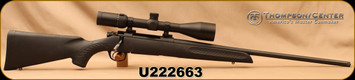 "Consign - Thompson Center - 7mmRM - Compass - Black Synthetic/Blued, 24""Threaded(5/8x24)Barrel - only 60rds fired - c/w 3-18x50mm Scorpion Venom Max, 30mm tube, Duplex reticle - also include original scope and gun boxes"