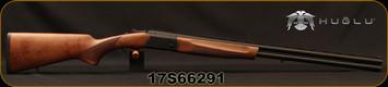 "Huglu - 20Ga/3""/28"" - Eagle S - Turkish Walnut/Blued, Black Lightweight Receiver/Chrome-Lined Barrels, Extractor, 5pc mobile choke, SKU# 8681715390208, S/N 17S66291"