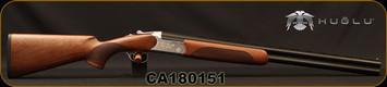 "Huglu - 12Ga/3""/26"" - 103C - O/U w/Extractors - Turkish Walnut/Silver Reciever w/gold inlay birds/Chrome-Lined Barrels, single trigger, 5pc. Mobile Choke, SKU# 8681715390222, S/N CA180151"