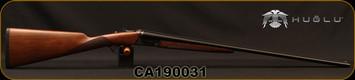 """Huglu - 410Ga/3""""/26"""" - 202B Mini - SxS w/Extractors - Double Trigger - Turkish Walnut/Case Hardened Receiver/Trigger Guard/Chrome-Lined Barrels, SKU# 8681715394770, F/M, S/N CA190031"""