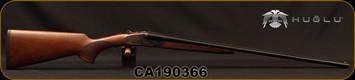 "Huglu - 410Ga/3""/26"" - 200AC Mini - SxS Single Trigger - Select Turkish Walnut/Case Hardened Receiver w/Gr5 Hand Engraving/Blued Barrels, Fixed Choke, SKU# 8681715398280, S/N CA190366"