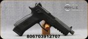 "CZ - 9mm - P-09 - Semi-Auto Pistol - Black Grips w/Interchangeable Backstrap/Black Finish, 5.15""Threaded(1/2x28) Barrel, Night Sights, Mfg# 91270"