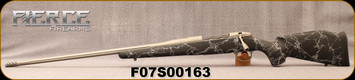 "Fierce - 6.5PRC - Edge - LH - Black w/Grey Web/carbon fiber stock/Titanium Grey Cerakote, Fluted 24""Threaded Barrel(26""w/Titanium Muzzle Brake)adjustable match grade trigger"