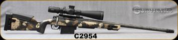 "Gunwerks - 300NormaMag - Verdict Rifle System - Halo Tan Carbon, Carbon Fiber Stock/Stainless Steel Carbon Wrap Barrel, Graphite Finish, 26""Barrel, Picatinny w/Half ARCA rail, Leupold 5-25x56 RH1 MOA Illum.Anti-Cant Level"