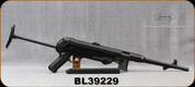"""GSG - 22LR - MP40 - Semi Automatic Rifle - Black Foldable Synthetic stock/Blued, 11.8""""Barrel, Adjustable sights, 23rd detachable magazine, Mfg# 440.00.10 Non-Restricted - Demo Model"""