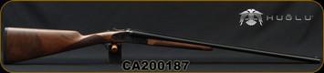 "Huglu - 28Ga/2.75""/26"" - 200AC Mini - SxS Single Trigger - Grade II Turkish Walnut/Case Hardened Receiver w/Hand Engraving/Chrome-Lined  Barrels, 5pc. Mobile Choke, SKU# 8681715398273-2, S/N CA200187"