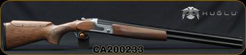 "Huglu - 12Ga/3""/26 - S12E - Ladies/Youth O/U - Grade 2 Turkish Walnut Monte Carlo Stock w/Adjustable Comb/Silver Receiver/Chrome-lined barrels, M Choke, SKU# 8681715390833-2, S/N CA200233"