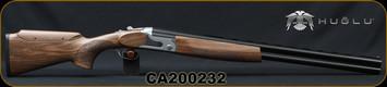 "Huglu - 12Ga/3""/26 - S12E - Ladies/Youth O/U - Grade 2 Turkish Walnut Monte Carlo Stock w/Adjustable Comb/Silver Receiver/Chrome-lined barrels, M Choke, SKU# 8681715390833-2, S/N CA200232"