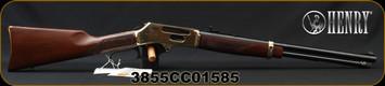 "Henry - 38-55 - Side Gate - Cowboy Carbine Lever Action - American Walnut Stock/Brass Receiver/Blued, 20"" Barrel - 5rd - Mfg# H024-3855, S/N 3855CC01585"