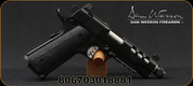 "Dan Wesson - 9mm - Discretion Commander 1911 - Semi Auto Pistol - G10 Grips/Black Finish, 5"" Threaded Barrel, Ported Slide, (2)10 Round Magazines, Suppressor Height Night Sights, Mfg# 01888"