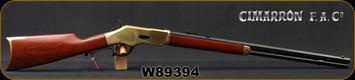 "Cimarron - Uberti - 38-40Win - 1866 Yellowboy Sporting Rifle - Walnut Stock/Brass Frame, Butt Plate & Forend tip[/Standard Blue Finish, 24""Octagon Barrel, 12-Round Capacity, Mfg# CA224, S/N W89394"