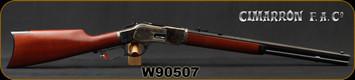 "Cimarron - Uberti - 44-40Win - 1873 Short - Lever Action Rifle - Walnut Stock/Case Colored Frame/Blued Finish, 20""Octagon Barrel, 10 Round Capacity, Mfg# CA241, S/N W90507"