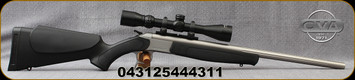 """CVA - 44Mag - Scout V2 Combo Rifle - Black Synthetic Stock/Stainless Steel, 22""""Standard Fluted Barrel, CrushZone Recoil Pad, c/w Konus 3-9x40mm Scope, Duplex Reticle, Soft case"""