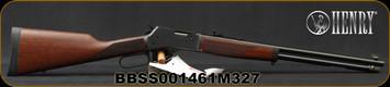 "Henry - 327Mag - Big Boy Steel - Lever Action Rifle - American Walnut Stock/Steel Receiver/Blued, 20""Round Barrel, 10 Round tubular magazine, Mfg# H012M327, S/N BBSS001461M327"