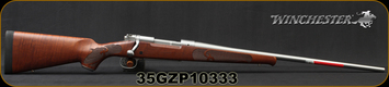 "Winchester - 264WM - Model 70 Featherweight Stainless Dark Maple - Satin finish AAAA Dark Maple stock/Matte Stainless, 24""Barrel, 3round Hinged Floorplate, Mfg# 535236229, S/N 35GZP10333"