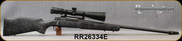 "Consign - Remington - 300RUM - Model 700 LR - Black w/Grey Web Synthetic Stock/Blued, 26""Barrel, c/w IA Heathen Brake, Trigger Tech Trigger, Nikon,Monarch M5, 5-20x50mm, SF - SFP - MK1-MOA Ret, Nightforce Base - New, Unfired"