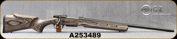 """Consign - CZ - 308Win - Model 550 Varmint - Grey Laminate Stock w/Vented Forend/Blued, 25.5""""Barrel, set trigger, proven 1/2""""MOA - 200 rounds fired"""