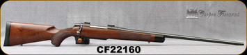 """Consign - Cooper - 6.5x284 - Model 52 Custom Classic - Bolt Action Rifle - AAA Claro Walnut stock w/African Ebony Tip/Polished Blued, 26""""Barrel - In non-original Cooper Box"""
