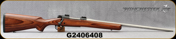 """Consign - Winchester - 270WSM - Model 70 - Brown Laminate Stock/Stainless, 24""""Barrel, Push-Feed, Redding Dies"""
