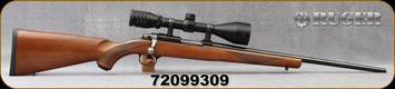 "Consign - Ruger - 22Hornet - Model 77/22 - Walnut Stock/Blued, 19.5""Barrel, Timney Trigger kit, Redfield Revenge 3-9x52mm, 4-Plex Reticle - Only 50 rounds fired"